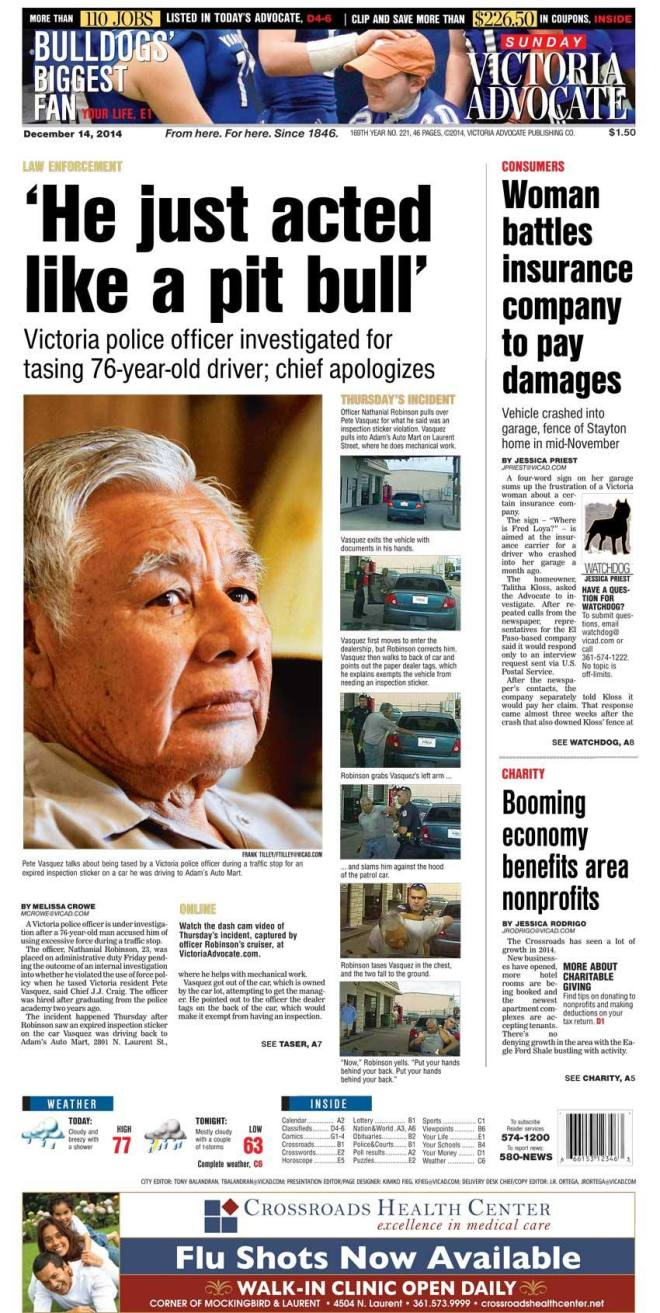 A1 Sunday, Dec. 14, 2014